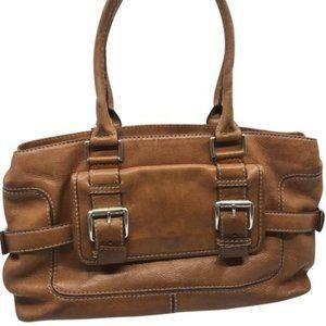 Michael Kors Brown Large PU Leather Shoulder Bag